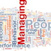 Background concept wordcloud illustration of business managing people
